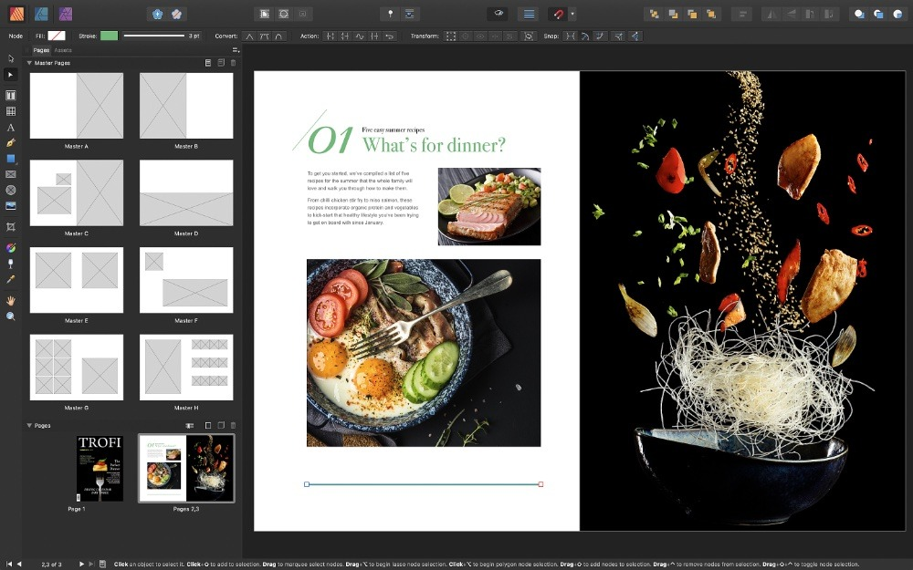 The devil is in the details, but at first glance Affinity Publisher will feel very familiar for InDesign users
