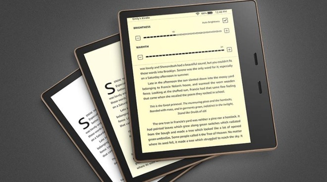The new Kindle Oasis comes with a display that change from white to warm amber