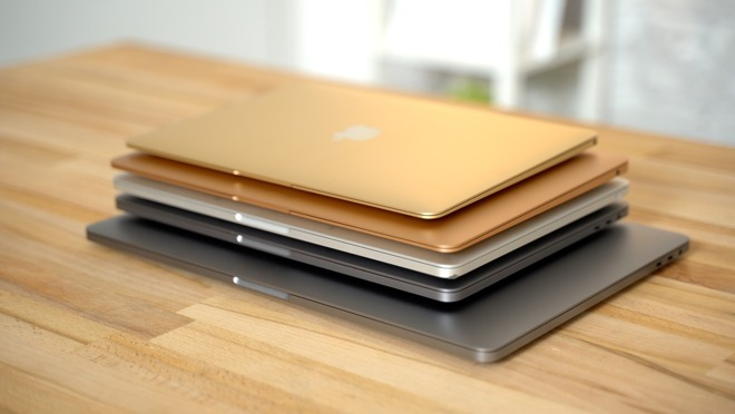 Assortment of Apple MacBooks and MacBook Pros