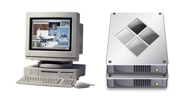 From the DOS Compatible Mac (left) to Boot Camp