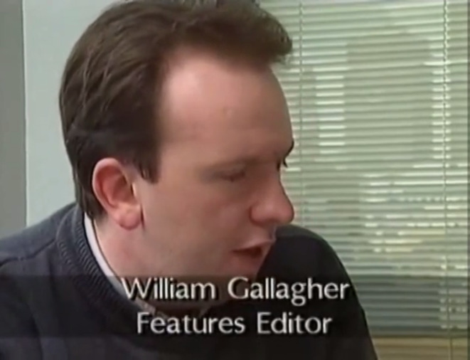 William Gallagher working on a PC magazine and writing about Macs in 1993. I still have the hair. You're never going to check.
