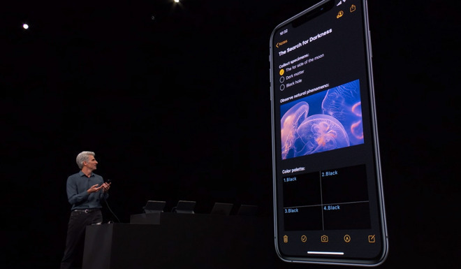 iOS 13's 'Dark Mode'