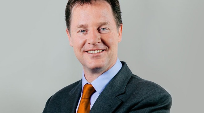 Former Liberal Democrats leader and deputy prime minster Nick Clegg, now Facebook VP of global affairs