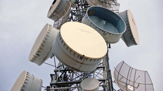 A telecommunications tower. (Photo: Bidgee via Wiki Commons)