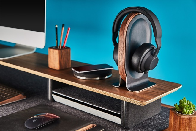 Grovemade Headphone Stand comes in maple or walnut