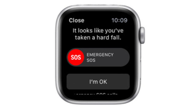 Apple Watch Series 4 fall detection alert