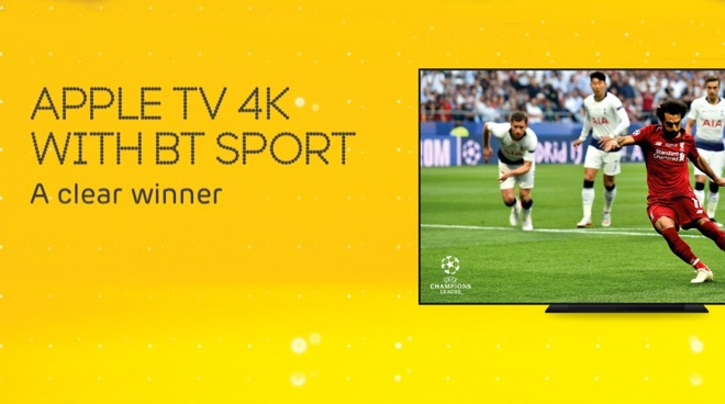 Detail from EE UK's promotional deal with Apple TV 4K and BT Sport