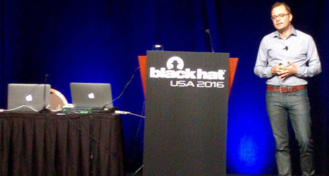 Ivan Krstic during his Black Hat 2016 talk about iOS security measures