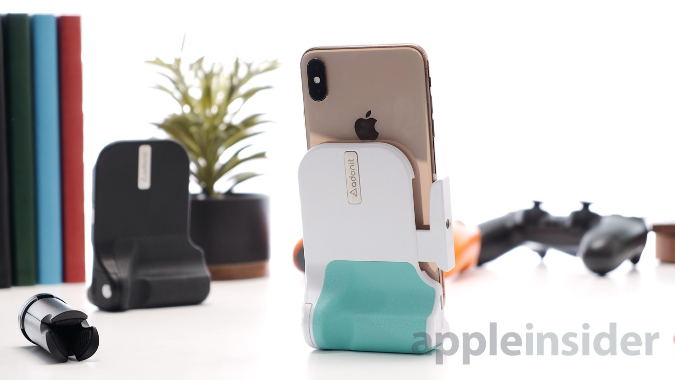 Adonit PhotoGrip Qi in White/Mint Color