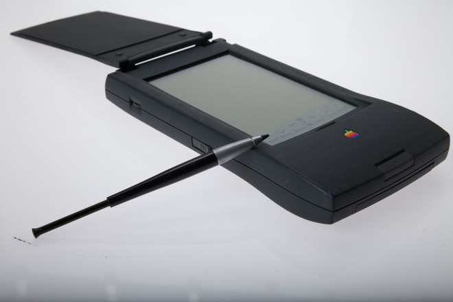 The Newton MessagePad and stylus