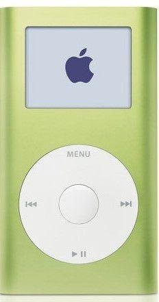 iPod mini in green