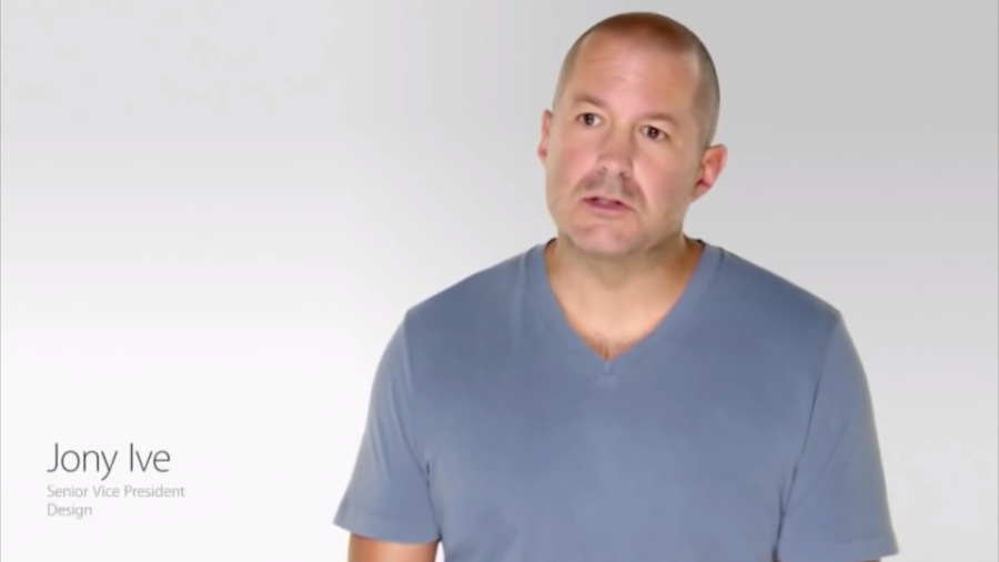 Jony Ive didn't present Apple products on stage but he regularly extolled them in the ads