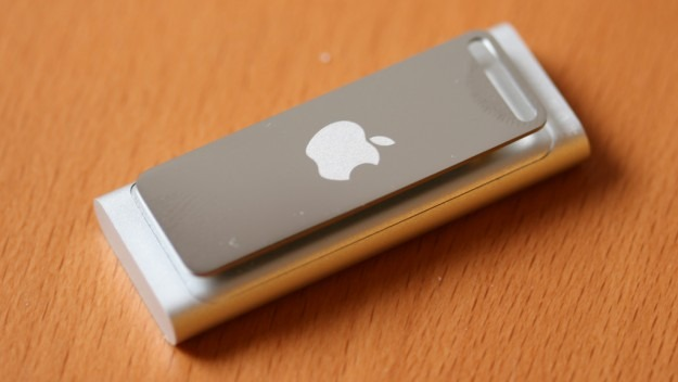 Third generation iPod Shuffle. It looks good from this side, but the other side is just blank metal.