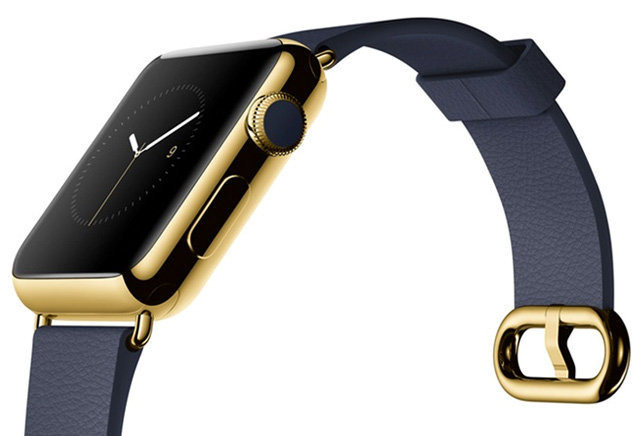 The original gold version of the Apple Watch