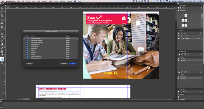 QuarkXPress is again a strong option, but with things like the, to us, over-sized toolbar icons, it isn't as appealing as InDesign