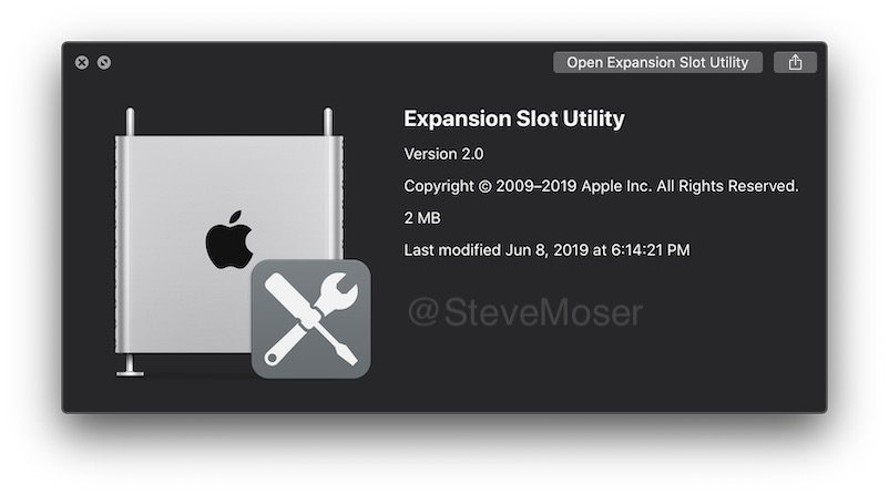 Apple's Expansion Slot Utility 2.0