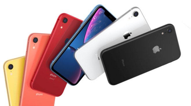 A selection from Apple's iPhone range