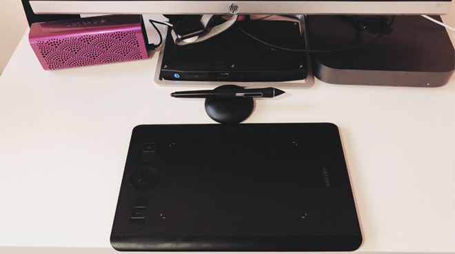 Wacom Intuos Small on desk
