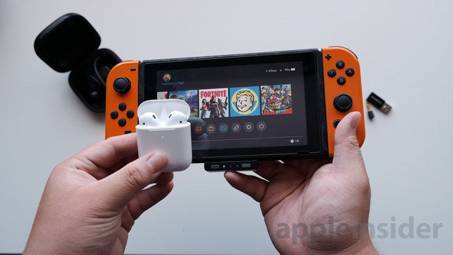 Pairing AirPods 2 with Nintendo Switch