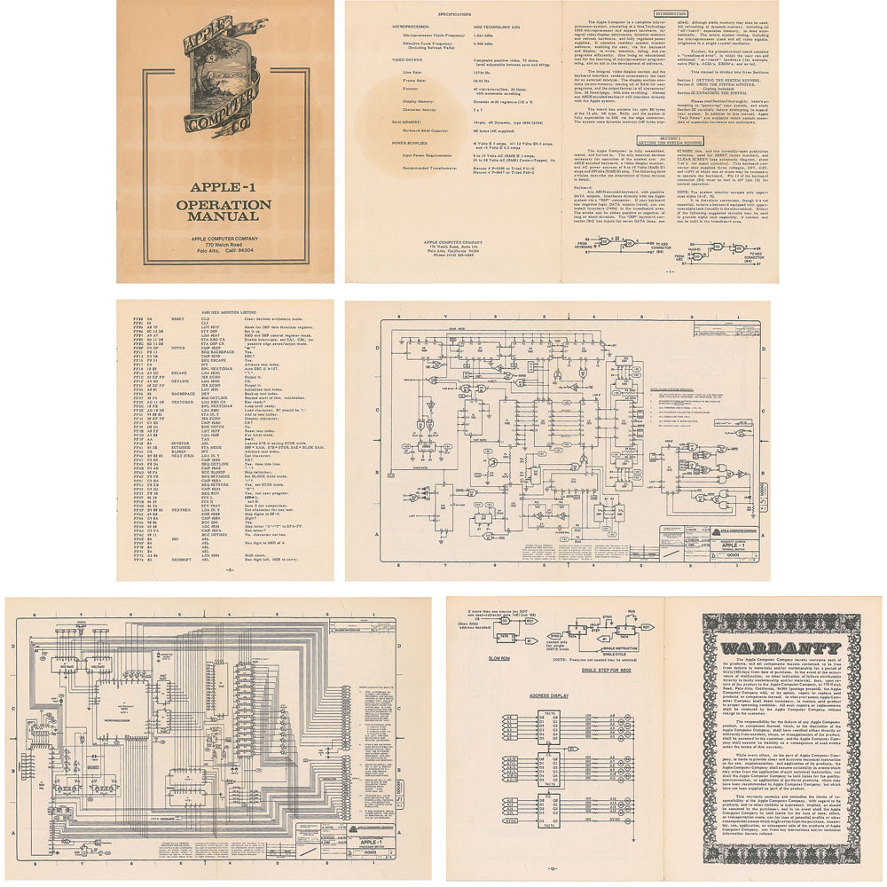 Apple-1 manual