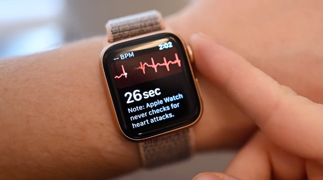 Using the ECG feature on Apple Watch Series 4
