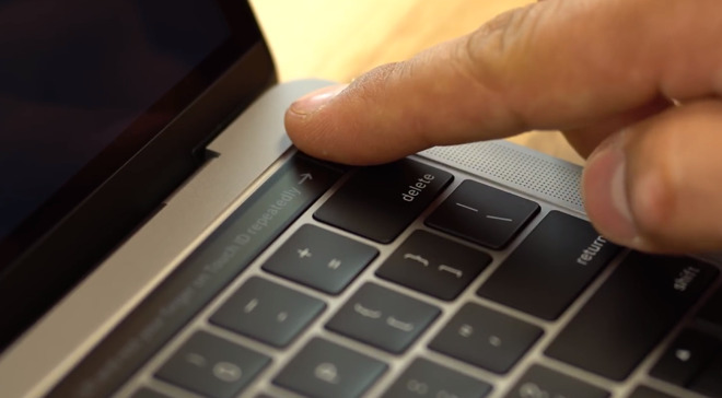With the Touch Bar comes Touch ID