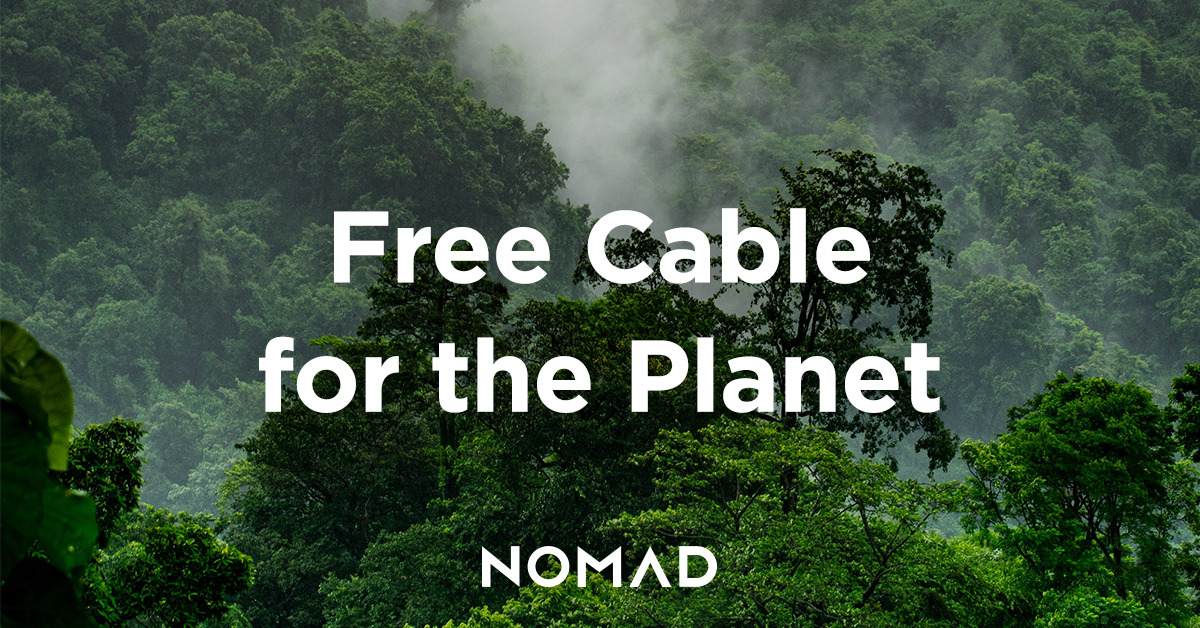 Nomad is giving away free Lightning cables to help the planet