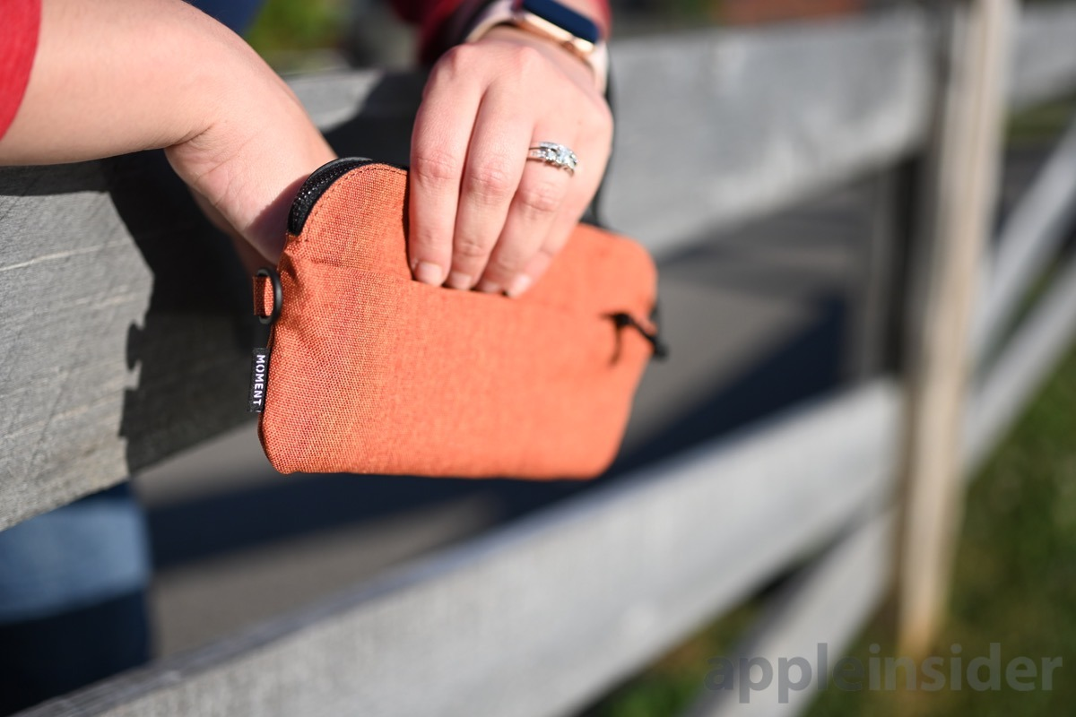 The Moment wristlet in Terracotta