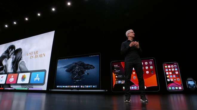 Tim Cook at WWDC 2019