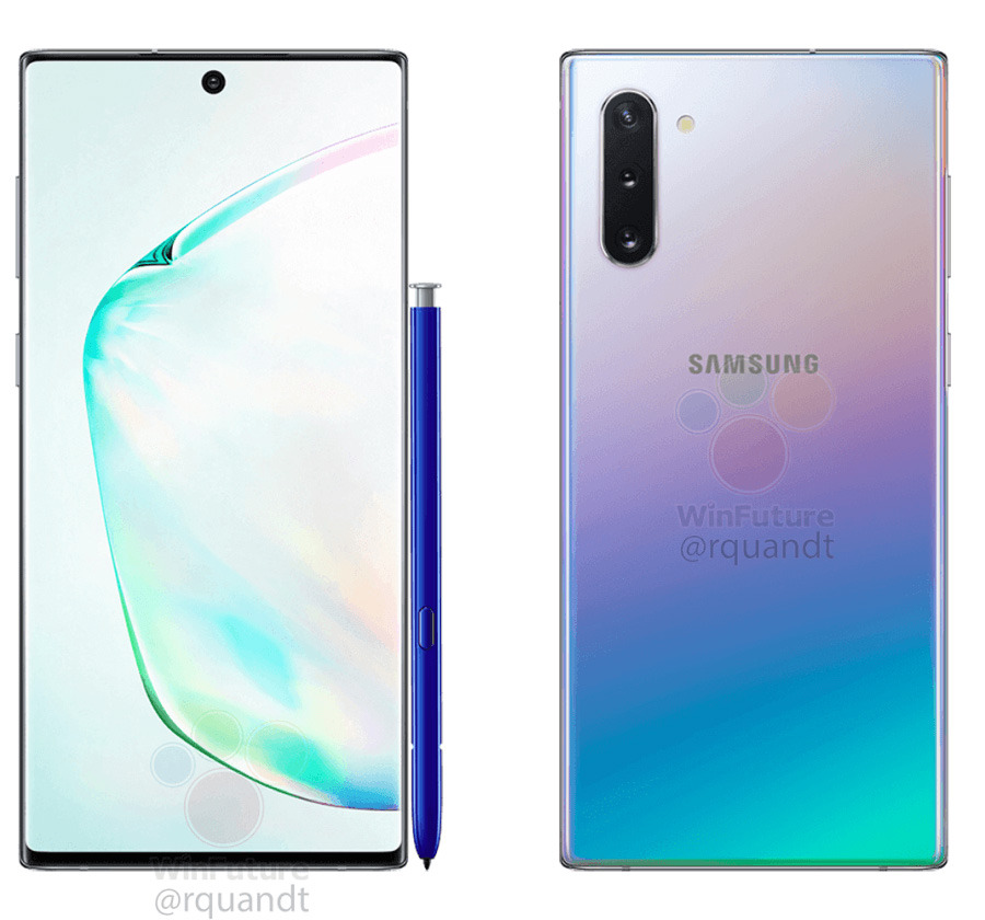 photo of Leaked images of Samsung's Galaxy Note 10 teases embedded fingerprint tech image