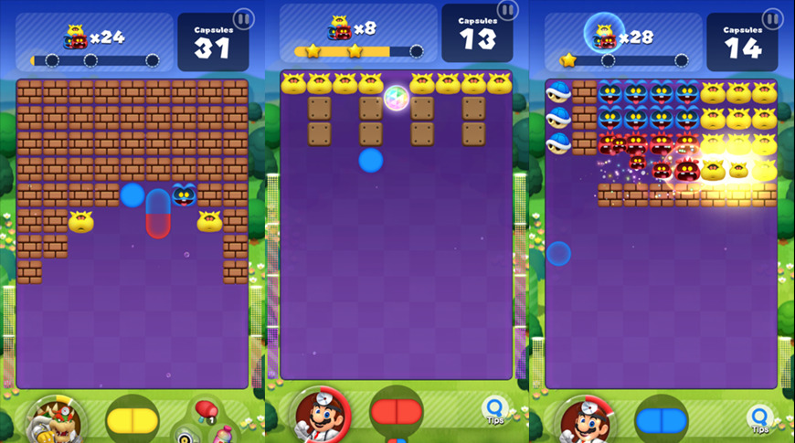 Dr. Mario World: the gameplay is alright.