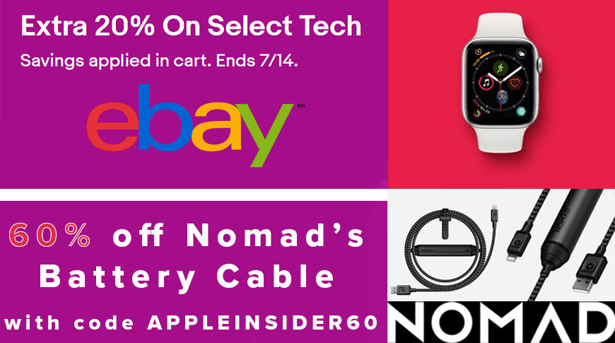 photo of Apple Watch Prime Day markdowns; 20% off AirPods, iPads; Nomad iPhone Battery Cable $20 image