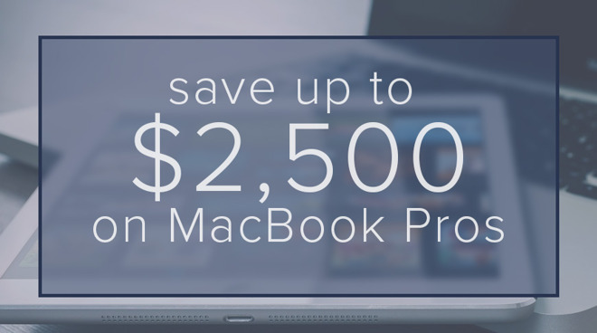 Apple 2018 MacBook Pro savings