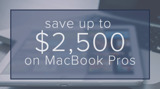 $1,000-$2,500 off 2018 MacBook Pros