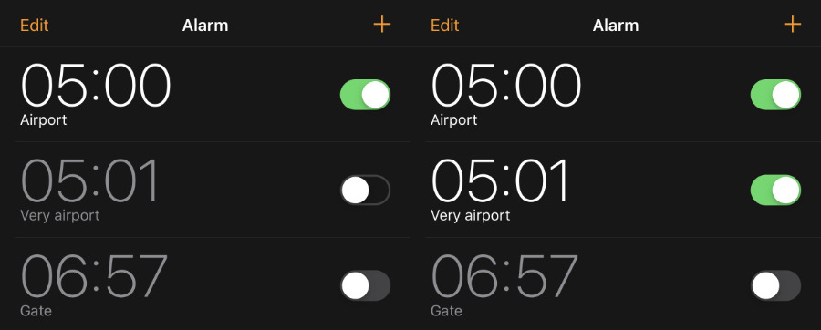Setting an extra alarm for one minute later somehow makes the iPhone sound the first alarm correctly.