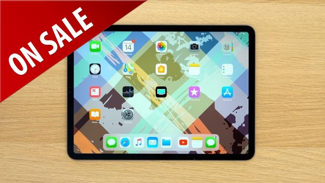 iPad Pro on desk with sale tag