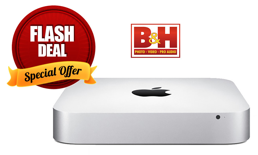 Apple Mac mini 2014 with flash sale badge