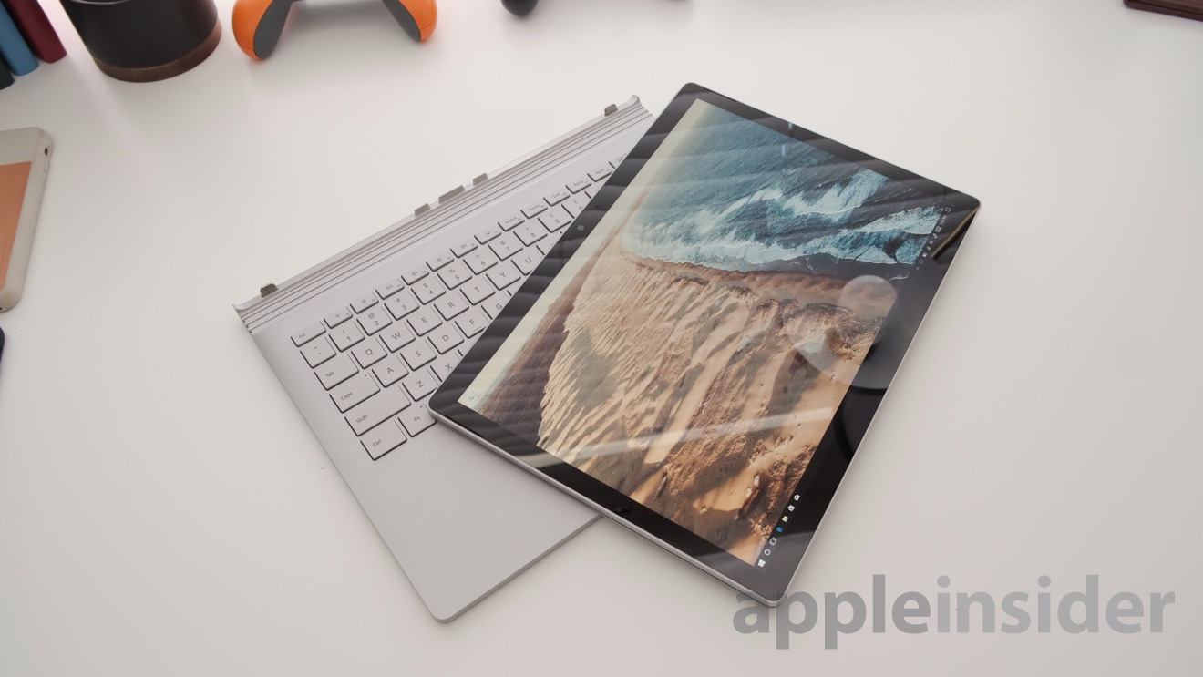 Surface Book 2 detached from its keyboard