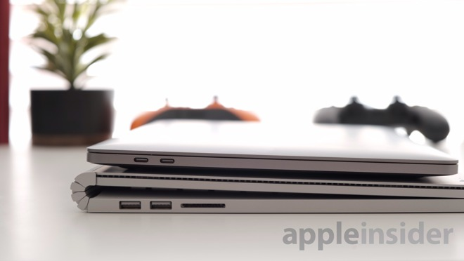 Mid 2019 13-inch MacBook Pro (top) and Surface Book 2 (bottom)