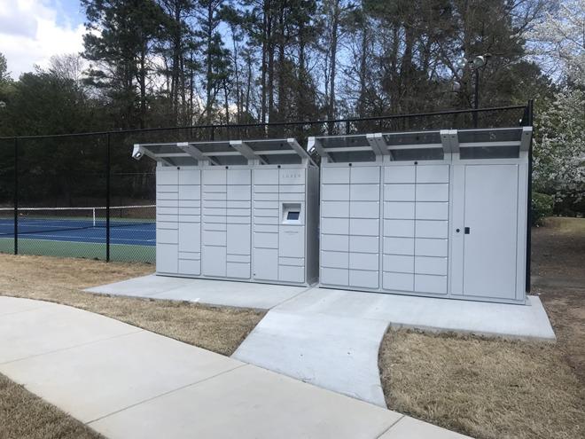 Luxer One outdoor lockers