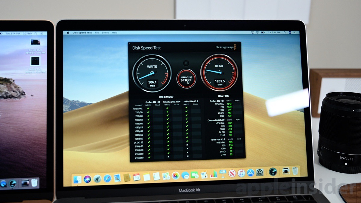 SSD performance on the 2019 MacBook Air