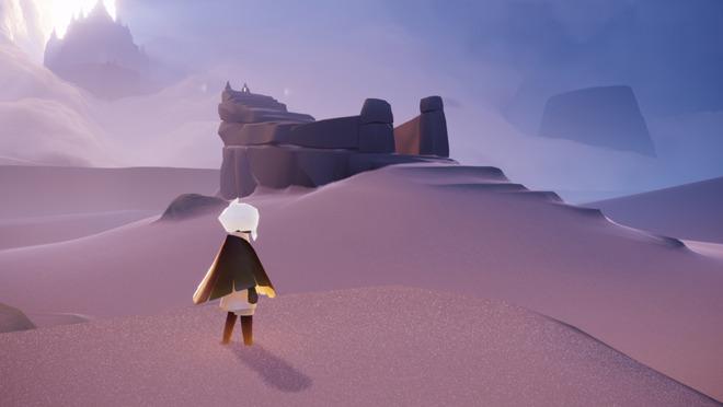 Sky, walking among the dunes