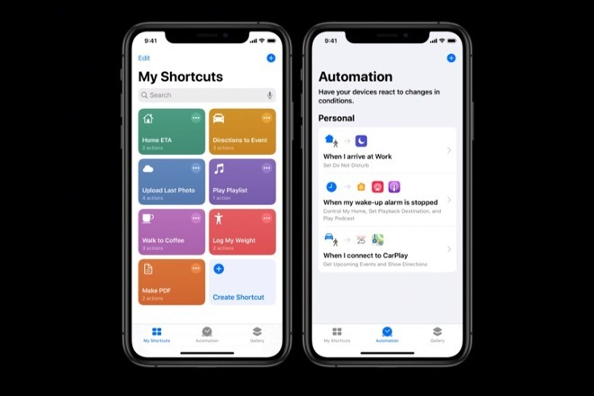 Siri Shortcuts, an automation tool that some apps tap to use Siri commands