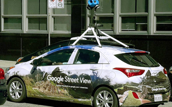 A more recent Street View car.