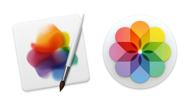 Pixelmator Pro (left) is bringing powerful image editing tools to Apple Photos