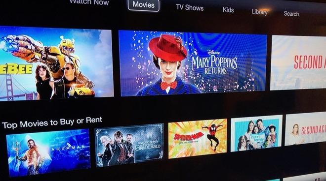 Apple TV app running on a third-generation Apple TV