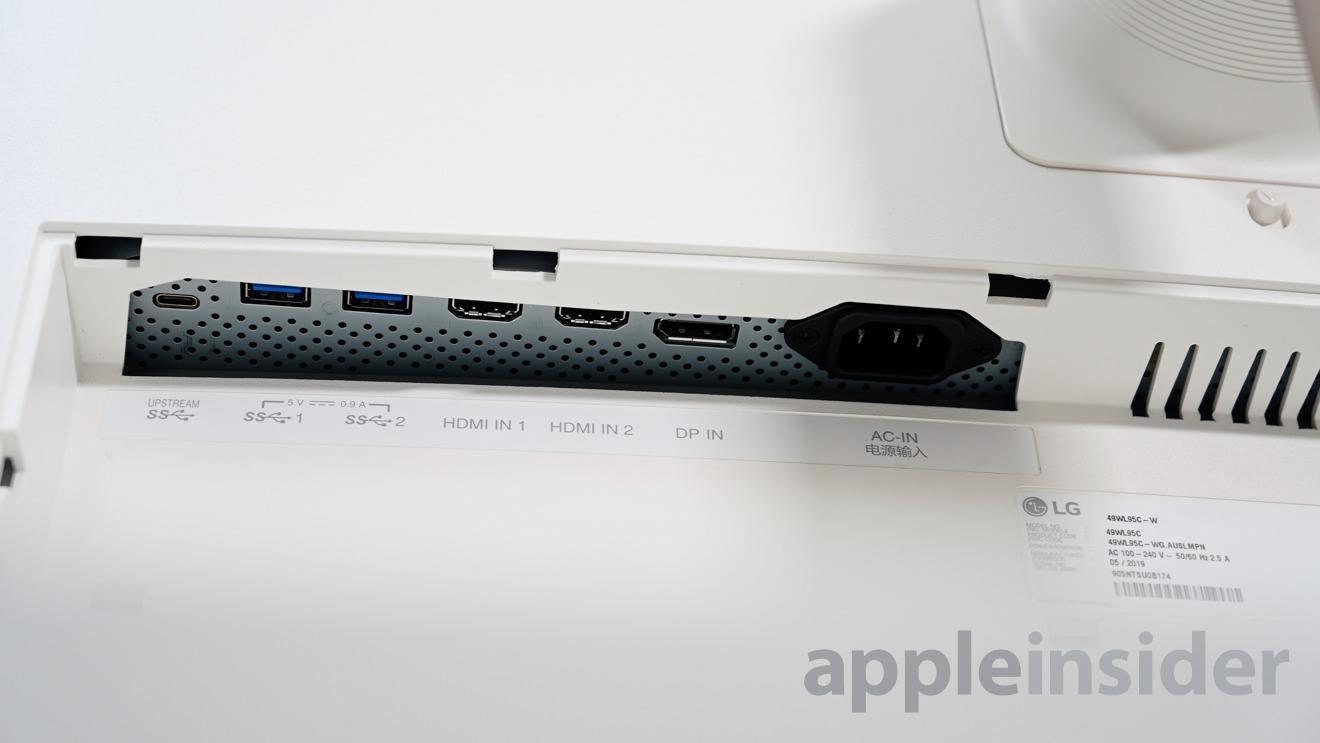 LG UltraWide ports