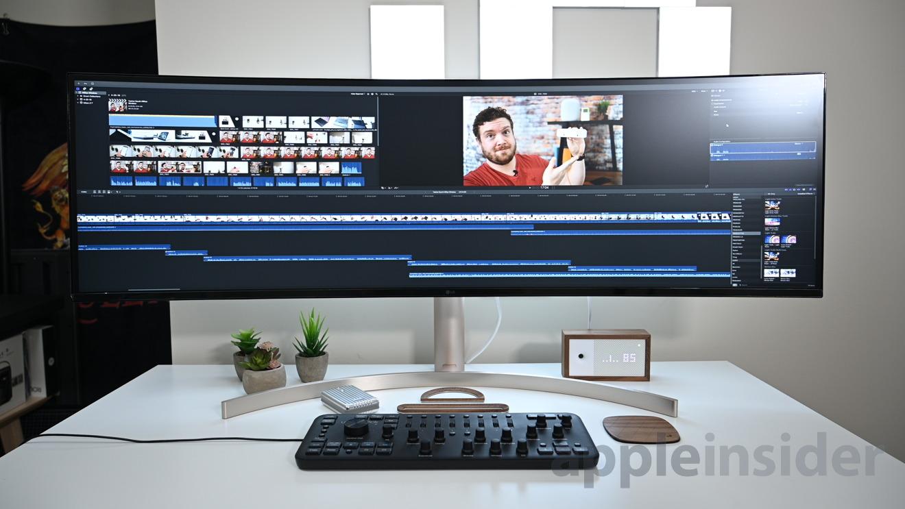 Running Final Cut Pro X on the LG UltraWide