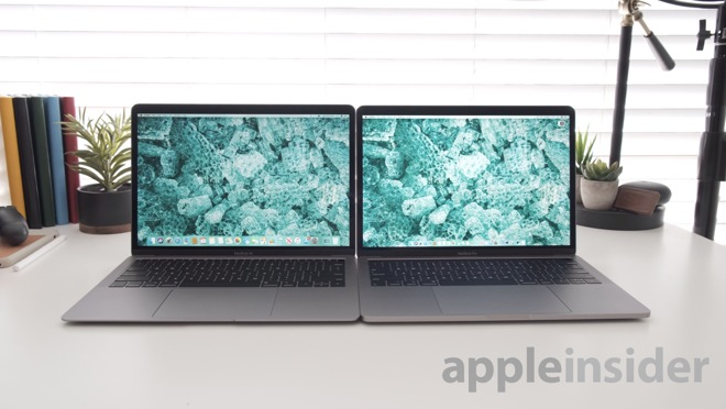 2019 MacBook Air (left) and 2019 MacBook Pro 13-inch (right)