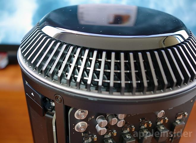 The vents at the top of the 2013 Mac Pro were part of a thermal cooling system that didn't live up to expectations